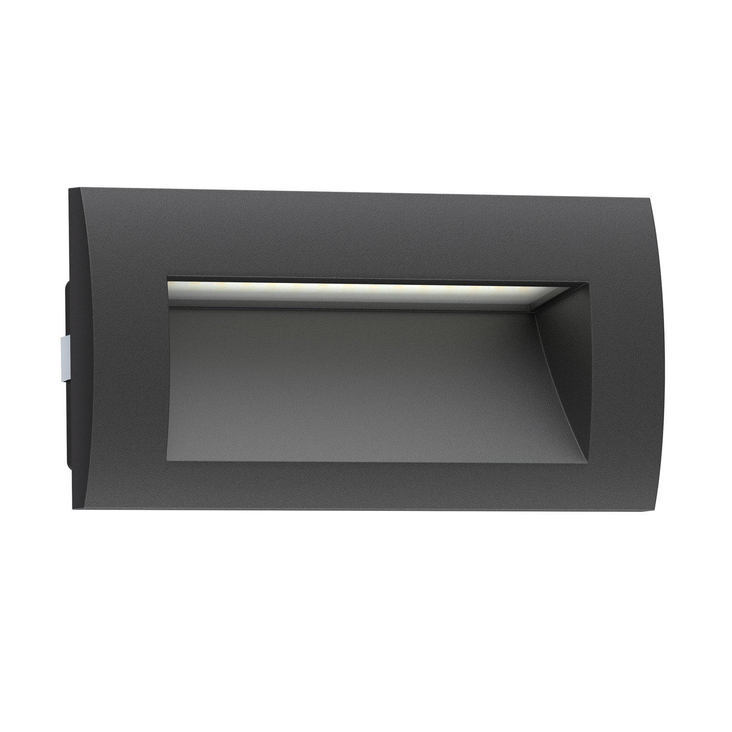 led wand einbauleuchte zibal f r au en schwarz warm wei 140x70mm von. Black Bedroom Furniture Sets. Home Design Ideas