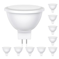 GU5.3 LED Lampe MR16 5.6W =33W 360lm 100° weiß, 10 Stk.
