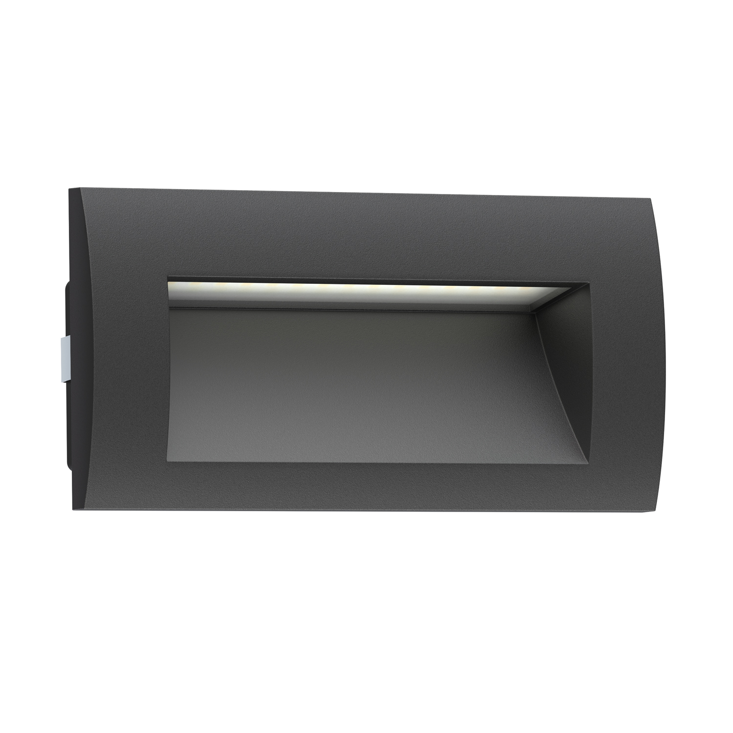 White Dimmable Wall Lights : LED Recessed Wall Light Zibal For Outdoor, Black, Warm White, 140x70mm eBay